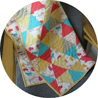 Geometric Baby Quilt via SEWN Sewing Blog