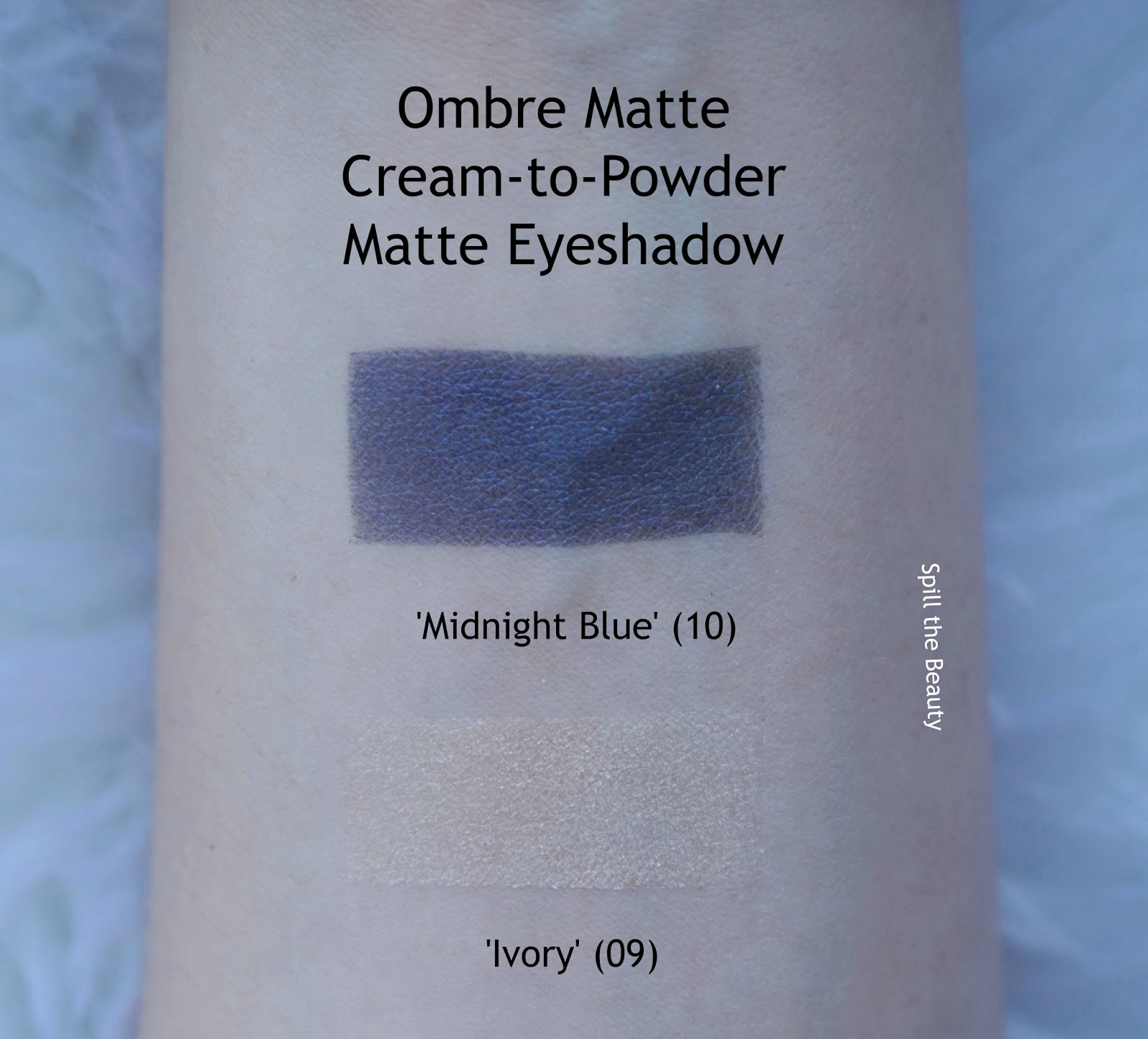 clarins fall 2017 review swatches ombre matte midnight blue ivory