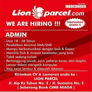 Lowongan Kerja SMA SMK Medan Februari 2020 PT Lion Parcel