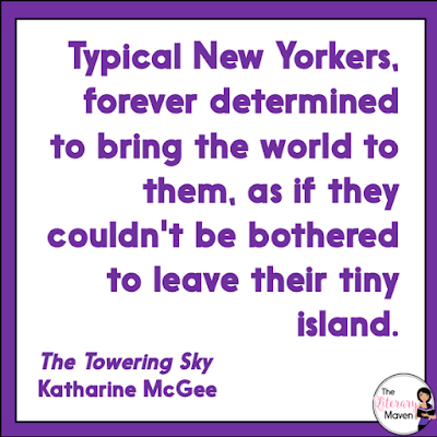 Like The Thousandth Floor and The Dazzling Heights, The Towering Sky by Katharine McGee has multiple narrators and begins with its ending. When the book begins, many of the characters have become distant from one another for a variety of reasons, but a renewed investigation into Eris's death and their shared guilt over the knowledge of what really happened that night on top of the tower bring them all back together. Read on for more of my review and ideas for classroom application.