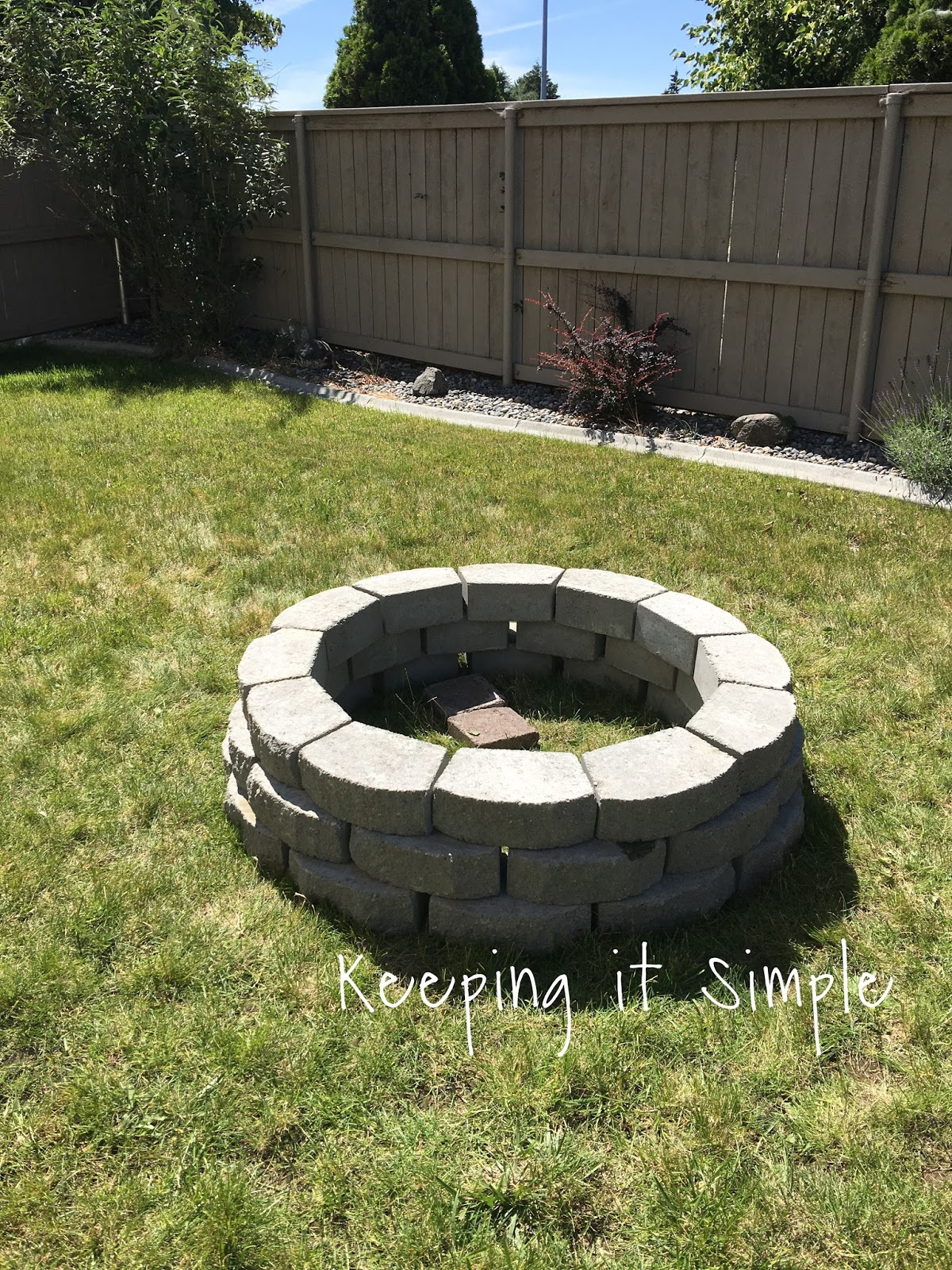 How to Build a DIY Fire Pit for Only $60 • Keeping it Simple