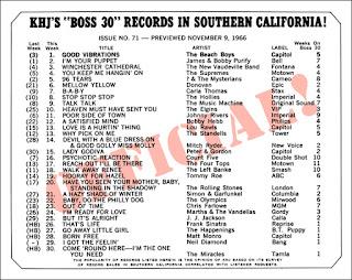 KHJ Boss 30 No. 71 - November 9, 1966
