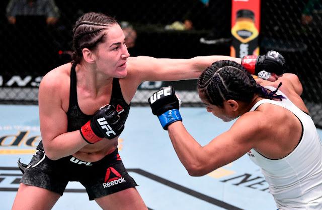 Cynthia Calvillo Dodges Jessica Eye's UFC On ESPN 10