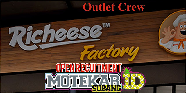 Info Loker Richesee Factory Outlet Crew (OC) Sumedang 2019