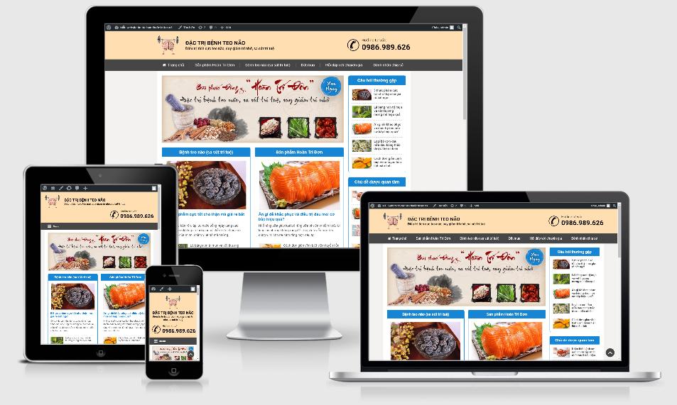 Theme wordpress tin tức | Mẫu website tin tức bán thuốc - Mã WP001