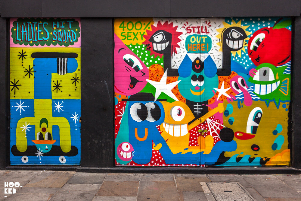 Colourful London Work from Spanish Street Artist PEZ and Nylon and Malarky