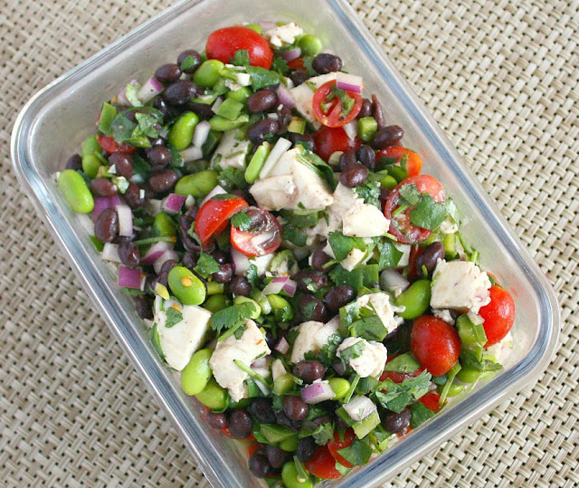 black bean edamame salad