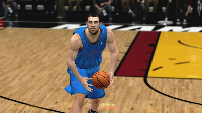 NBA 2K13 Nick Collison Cyberface Patch
