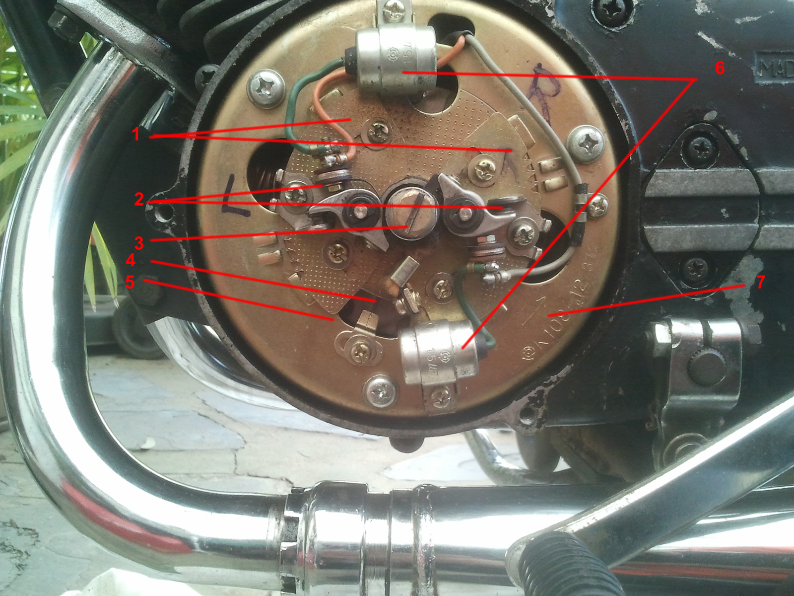 small resolution of ignition timing parts yamaha rd125a 1974