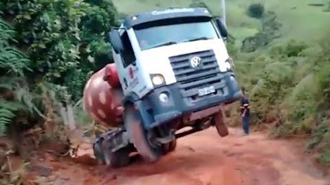 Caminhão betoneira apuros