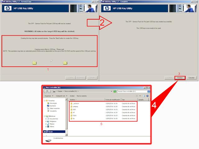 HP USB key proceso de creación de llave USB Bootable.