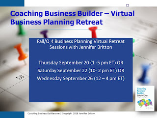 Coaching Business Builder - Virtual Biz Planning Retreat