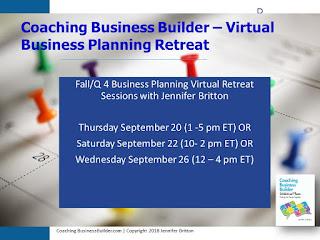 Coaching Business Builder - Virtual Biz Planning Retreat