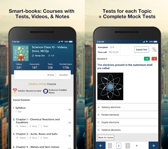EduRev App is Exam Preparation app like a learning game with videos & notes to learn a topic & testing you on those topics.