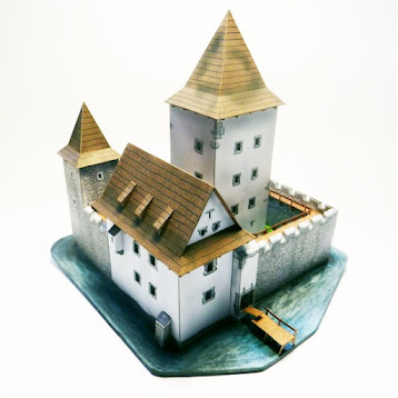 Medieval Fortress Card Model