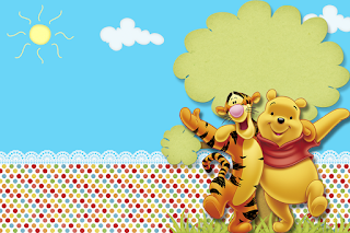 Winnie the Pooh Party, Free Printable Invitations, Labels or Cards.