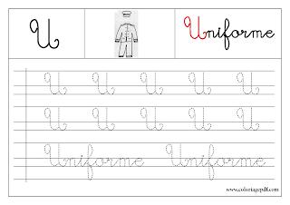 apprendre a ecrire l'alphabet en majuscule a imprimer