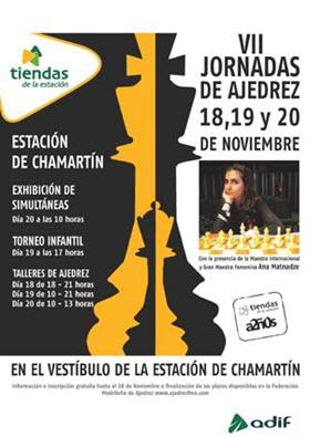 VII Semana del Ajedrez en la estación de Chamartín. 18, 19 y 20 de noviembre