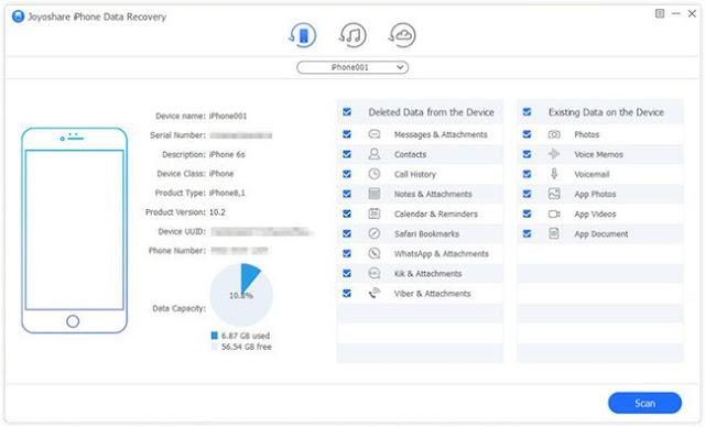 Joyoshare iPhone Data Recovery 2.3.1