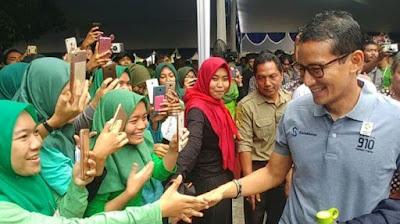 Teriak Ganti Presiden Depan Sandiaga,  Mahasiswa Universitas Muhammadiyah