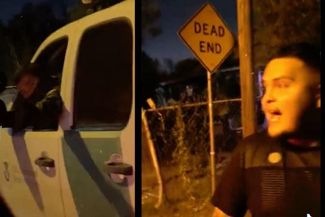 """Video: Vengase, para eso me gusta, vente """"te duermo"""" puro hocico perro Sicarios del Cártel del Noreste amenaza a agente de La Border Patrol"""