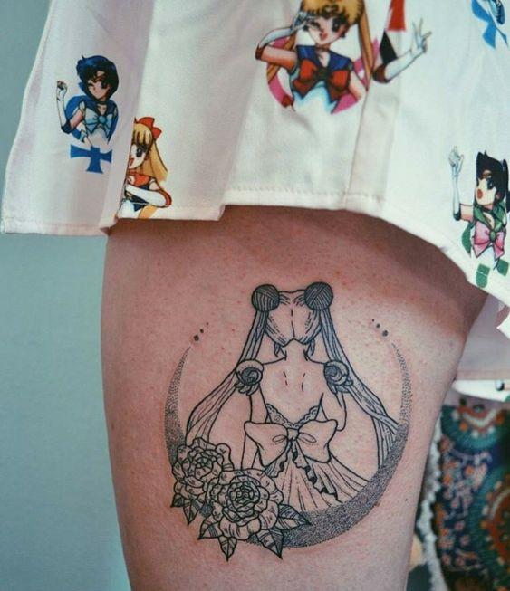 Inspiração: Tatuagens fofas para fãs de Sailor Moon!