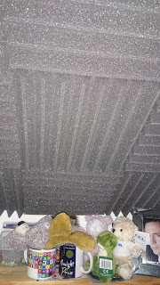 Anechoic foam on the ceiling of my office.