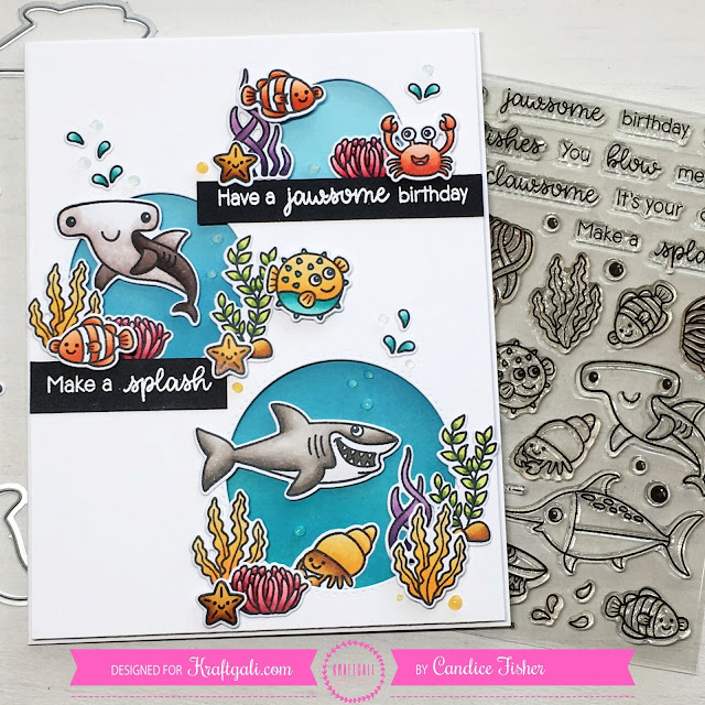 Sunny Studio Stamps: Best Fishes Customer Card by Candice Fisher