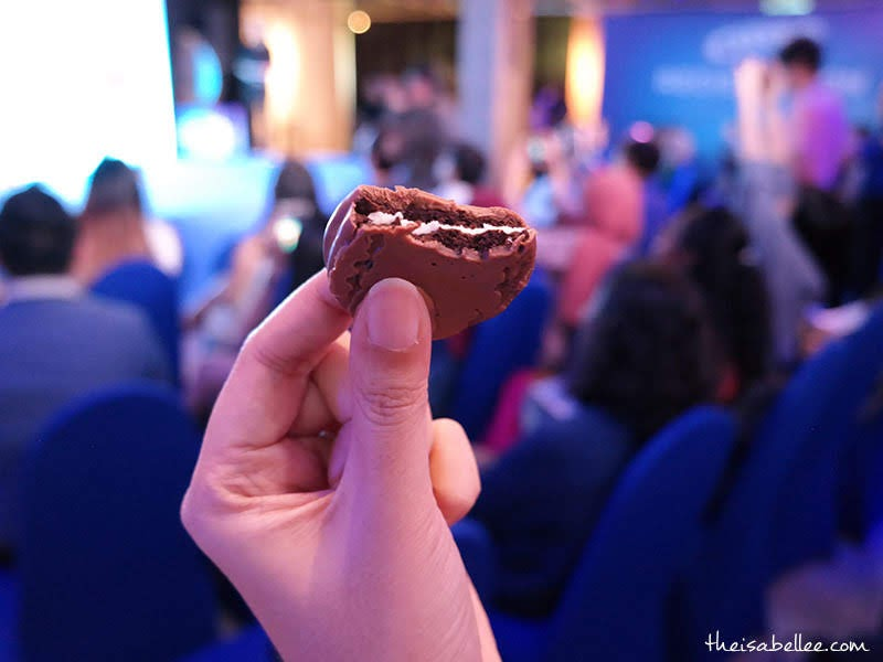 Inside Oreo Chocolate Coated