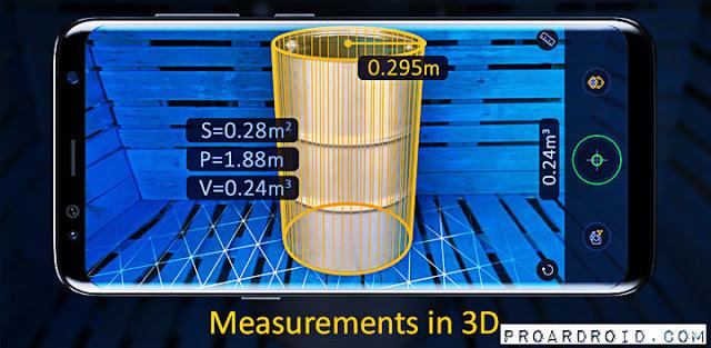 تطبيق AR Ruler App Pro لقياس المسافات من خلال الكاميرا للأندرويد 96SA56+%281%29