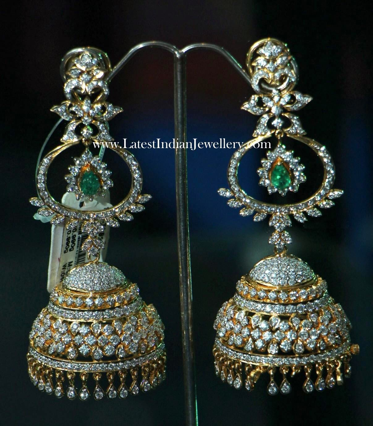Grand Diamond Jhumka Earrings