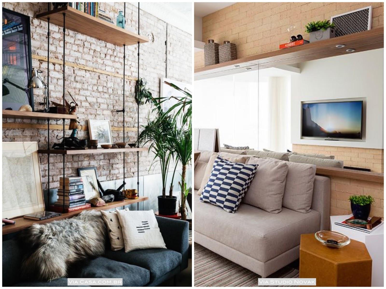 Arquivos Sala De Estar Living Casa Pensada -> Decoracao De Sala Com Prateleiras