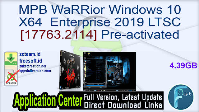 MPB WaRRior Windows 10 X64 Enterprise 2019 LTSC [17763.2114] Pre-activated
