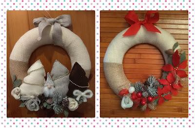 Ghirlande bicolore natalizie