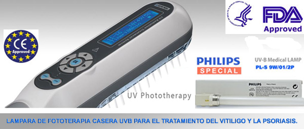 Lampara UV-B Narrow Band Para tratamiento del Vitiligo