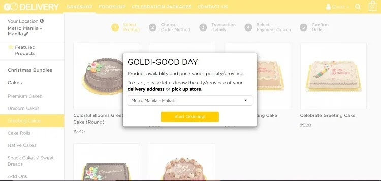 Pay with PayMaya at Goldilocks