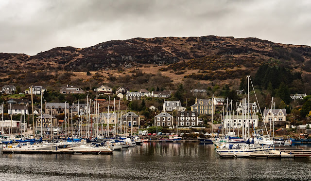 Photo of part of the busy marina at Tarbert