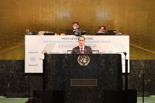"""Venezuela ante la ONU: """"No puede haber desarrollo sin paz, ni paz sin desarrollo"""""""