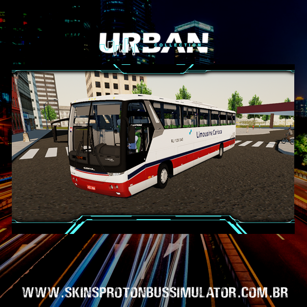 Skin Proton Bus Simulator - Comil Campione Vision 3.65 MB O-500RS Transportes Limousine Carioca