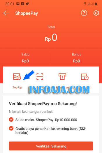 Top Up ShopeePay