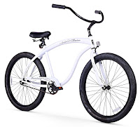 Firmstrong Bruiser Man Beach Cruiser Bike, White