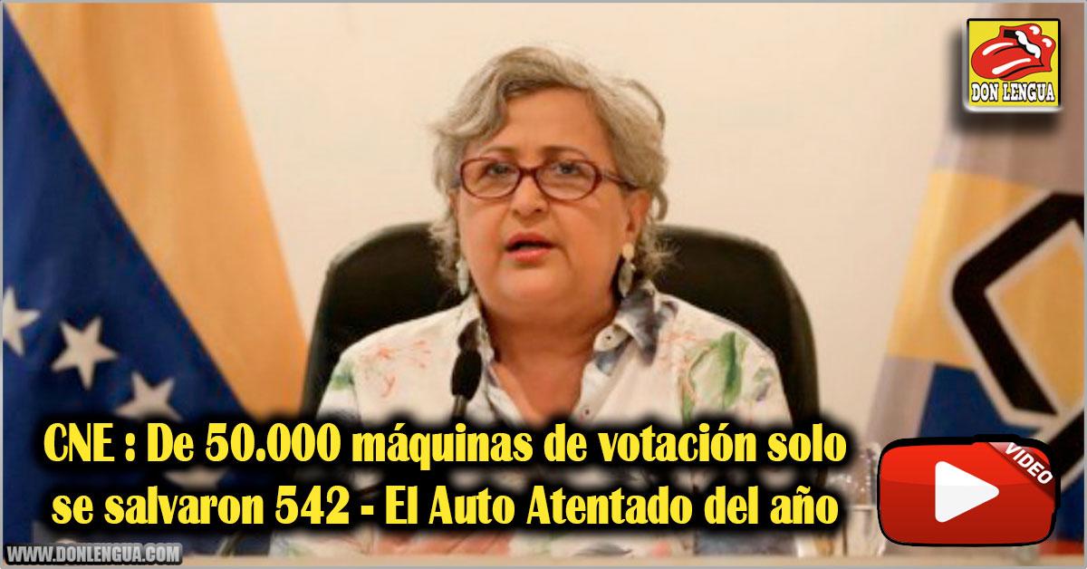 CNE : De 50.000 máquinas de votación solo se salvaron 542