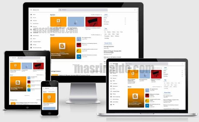 Review Template Materia X2 Premium Tema Blogger Anti Mainstream