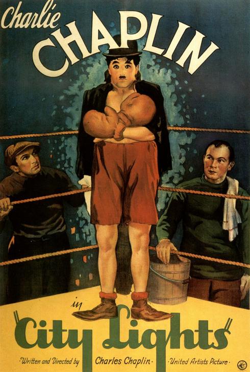 Chaplin City Lights Movie Poster 1931