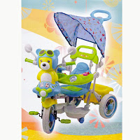 sepeda roda tiga pmb musik dobel beruang