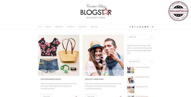 Blogstar Premium Blogger Template
