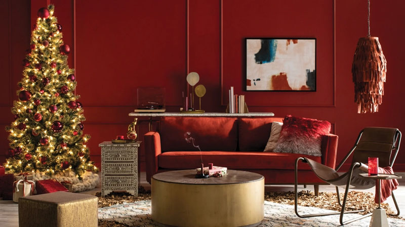 Decorate for the Holidays with Red Tones