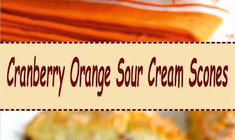 Cranberry Orange Sour Cream Scones
