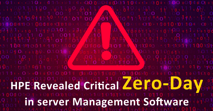 HPE Patched Critical zero-day in server Management Software