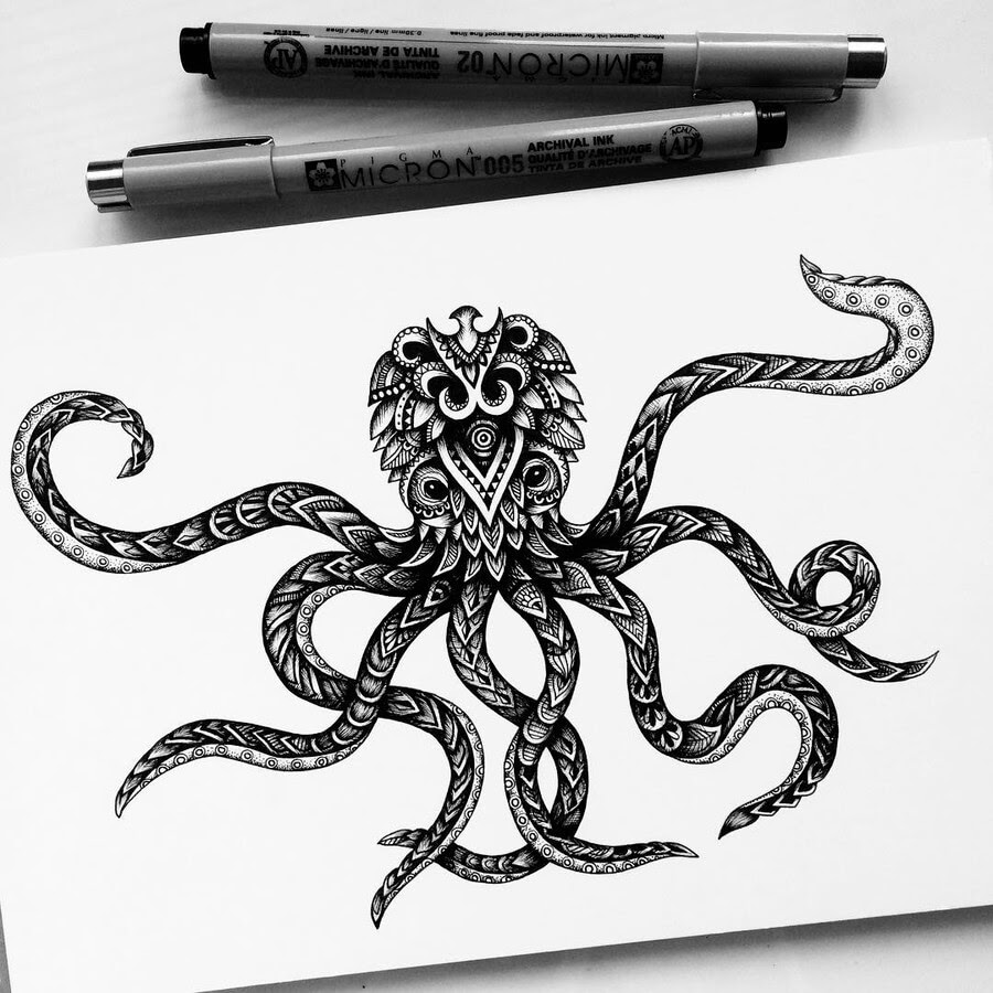 09-Octopus-Raven-Pavneet-Sembhi-www-designstack-co